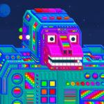 サイケデリックな虹色の世界を描く漫画家Jesse Jacobsの、キュートでスピリチュアルなゲーム「Spinch」。